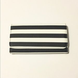 Kut From the Kloth Black & White Striped Wallet